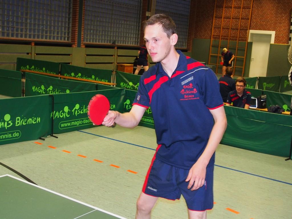 Matthias Haskamp konnte beide Einzel gewinnen.