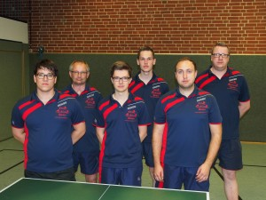 von links: Alain Karfik, Christian Garvels, Steffen Droppelmann, Matthias Haskamp, Johann Arndt, Oliver Morthors. Es fehlt Tim Zeeck